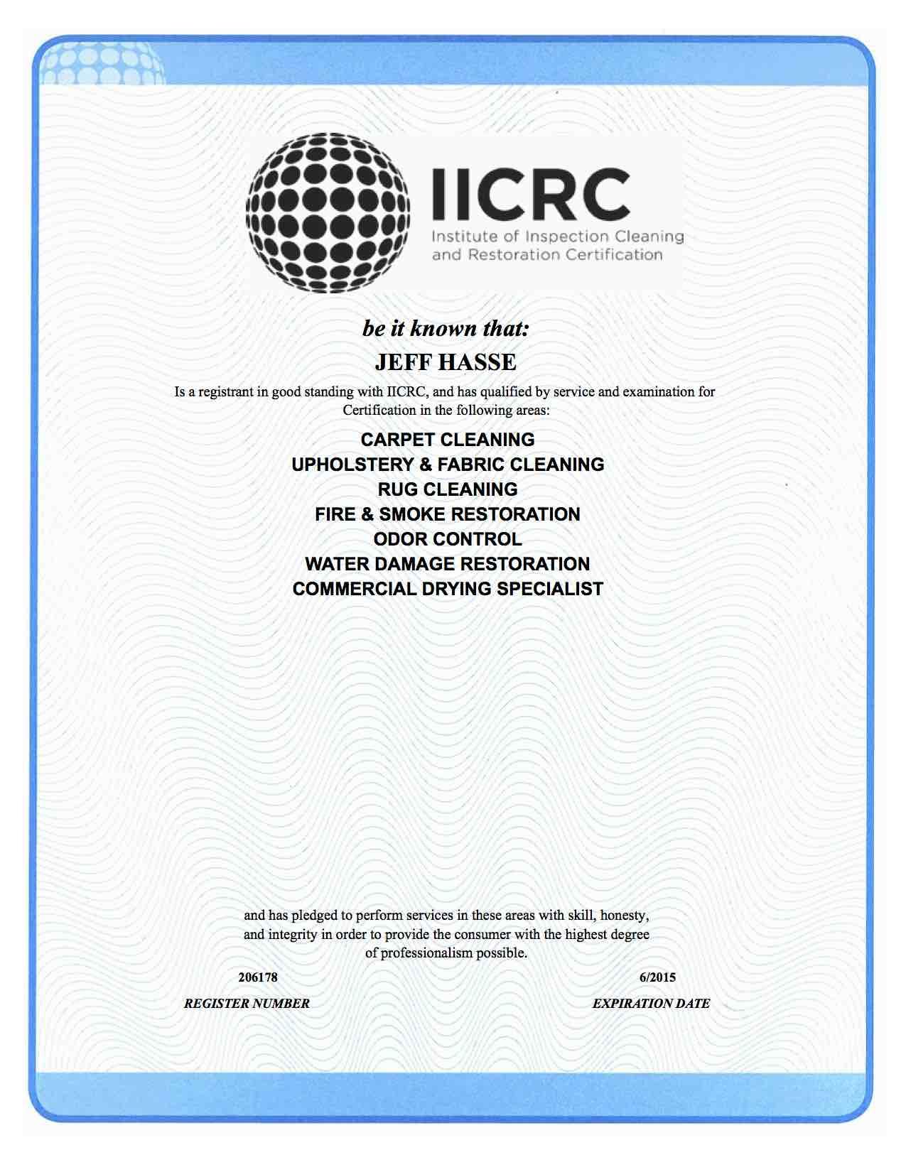 iicrc satisfaction training